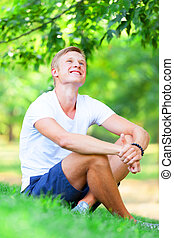 Teen boy in the park