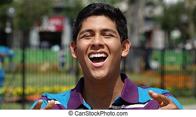 Teen Boy Laughing