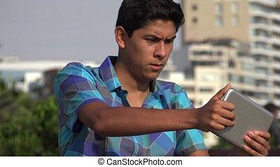 Teen Boy Playing Video Games