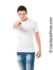 Teen boy pointing to you