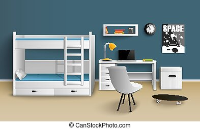 Teen Boy Room Realistic
