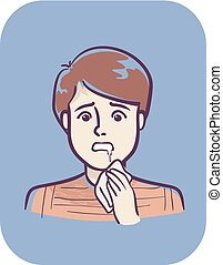 Teen Boy Symptom Drooling Illustration - Illustration of a...