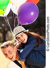 teen boyfriend girlfriend piggyback