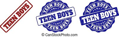 TEEN BOYS Grunge Stamp Seals