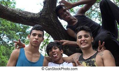 Teen Boys Having Fun
