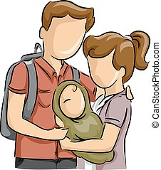 Teen Couple Baby Young Parents