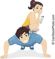 Teen Couple Exercise