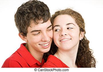 Teen Couple Flirting