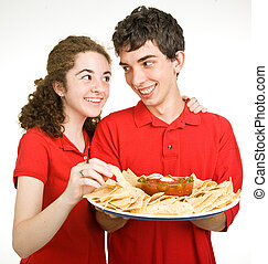Teen Couple - Snack Time