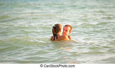 Teen Couple Summer Beach Vacation