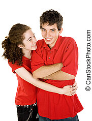 Teen Couple - Tickle Fight