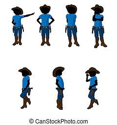 Teen Cowboy Illustration - Teen cowboy illustration...