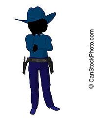 Teen Cowgirl Illustration