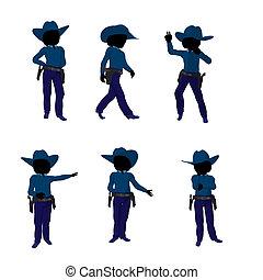 Teen Cowgirl Illustration - Teen cowgirl illustration...