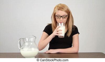 Teen Drinking Milk