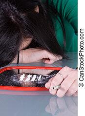 Teen Drug Addiction Problem - Cocaine - Teen Girl Taking ...