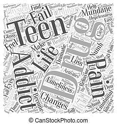 Teen Drug Addiction Word Cloud Concept