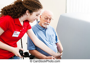 Teen Election Volunteer Helps - Teenage election volunteer ...