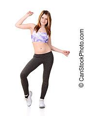 teen enjoying zumba workout