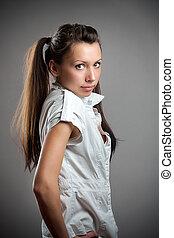 Teen fashion girl