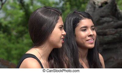 Teen Friends Talking Outdoors