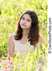 Teen Girl a beautiful meadow