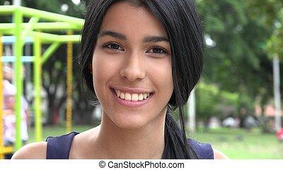 Teen Girl At Playground