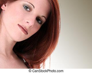 Teen Girl Beauty - Close Up of a Beautiful Seventeen Year...
