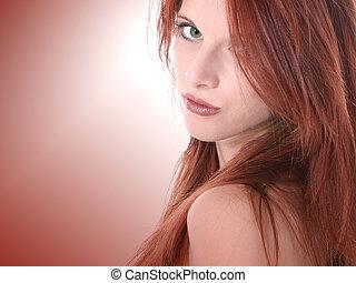 Teen Girl Beauty - Close Up of Beautiful Seventeen Year Old...