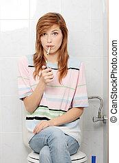 Teen girl caught on smoking