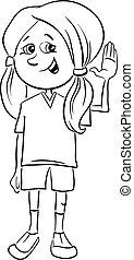 teen girl coloring book