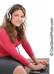 Teen Girl Computer
