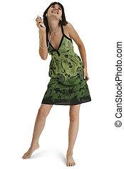 Teen Girl Dancing
