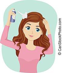 Teen Girl Dry Shampoo Spray
