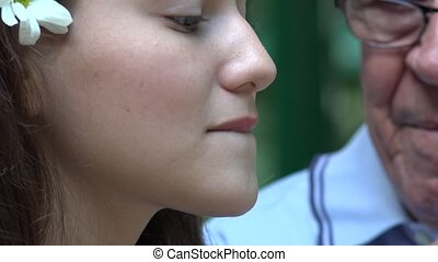 Teen Girl Eating Popsicle Closeup