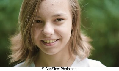 Teen girl emotional portrait - Close up emotional portrait...