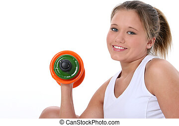 Teen Girl Exercise