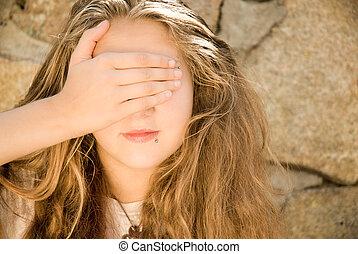 Teen Girl Eyes Shut