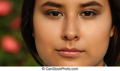 Teen Girl Face With Beautiful Skin