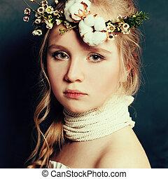 Teen girl fashion portrait