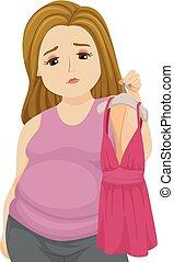 Teen Girl Fat Sexy Top Illustration