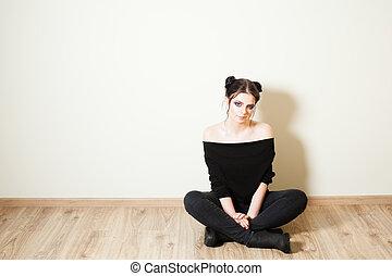 Teen girl getting ready to go to a nightclub