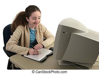 Teen Girl & Graphics Tablet