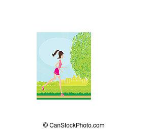 girl having fun on roller skates
