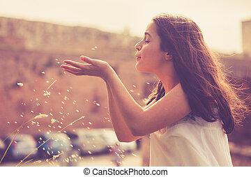 teen girl having fun outdoor