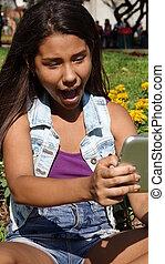 Teen Girl Having Fun With Tablet