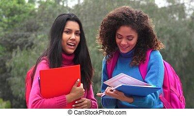 Teen Girl High School Students