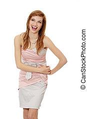 Teen girl in elegant dress
