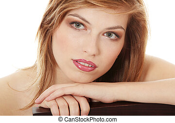 Teen girl in evening make up
