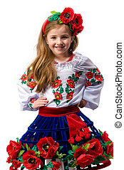 Teen girl in national dress